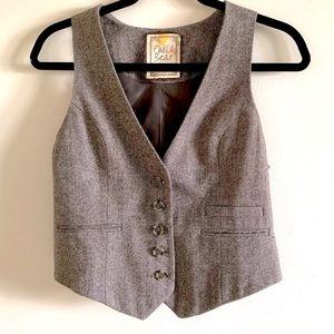 Grey Brown Vest